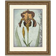 "Irises Golden I 29 1/4"" Wide Wall Art"
