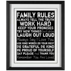 "Family Rules II 21 1/2"" High Wall Art"