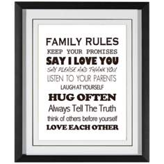 "Family Rules III 21 1/2"" High Wall Art"