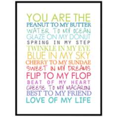 "You Are The 16 1/2"" High Wall Art"