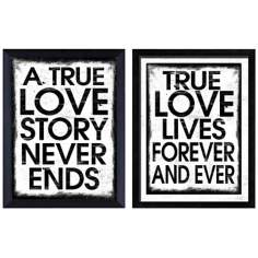 True Love Set of 2 Giclee Print Wall Art