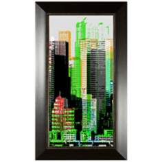 "Skyscraper I 35 3/4"" High Wall Art"