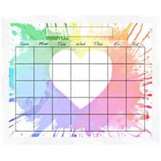 "Colorful Heart 22"" Wide Memoboard"