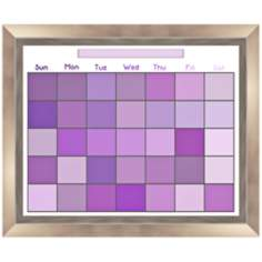 "Pixel Purple 23 1/2"" Wide Memoboard"