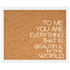 "To Me Silkscreened 22"" Wide Corkboard"