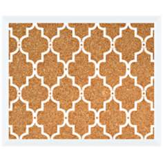 "White Trellis 22"" Wide Silkscreen Corkboard"