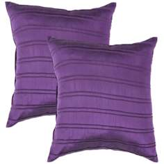 "Textural Amethyst 18"" Square Throw Pillow"