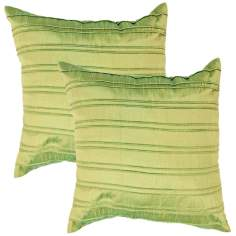 "Textural Emerald 18"" Square Throw Pillow"