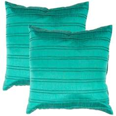 "Textural Jade 18"" Square Throw Pillow"