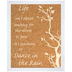"Dance in the Rain Silkscreened 18"" Wide Corkboard"