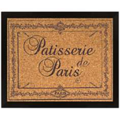 "Paris Patisserie Silkscreened 22"" Wide Corkboard"
