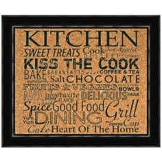 "Kitchen Silkscreened 22"" Wide Corkboard"
