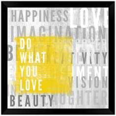 "Do What You Love 20 3/4"" Square Wall Art"
