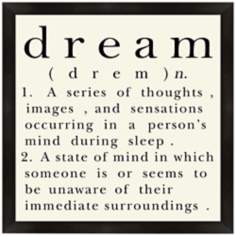 "Dream 18"" Square Wall Art"