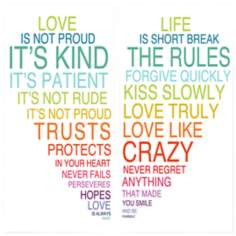 Love & Life Is Set of 2 Wall Art