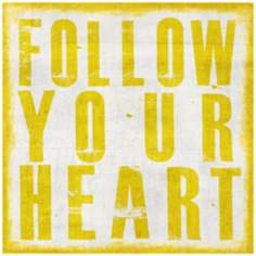 "Follow Your Heart 20"" High Canvas Wall Art"