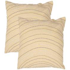 "Tribal Textural Citrine 18"" Square Throw Pillow"