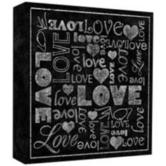 "Love Vintage 20"" High Canvas Wall Art"