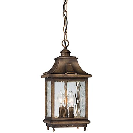 "Wilshire Park 16"" High Bronze Outdoor Hanging Light"