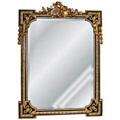 "Musical Motif 40"" High Gold Leaf Rectangular Wall Mirror"