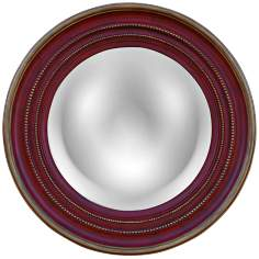 "Maiden 25 1/4"" High Convex Round Wall Mirror"