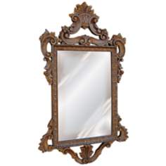 "Templar 39"" High Gold Leaf Rectangular Wall Mirror"