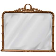 "Classic Buffet 37 1/4"" Wide Antique Gold Wall Mirror"