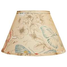 Colored Butterflies Empire Lamp Shade 8x14x10.25 (Spider)