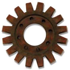 "Train Gear 20 3/4"" Round Industrial Wall Art"