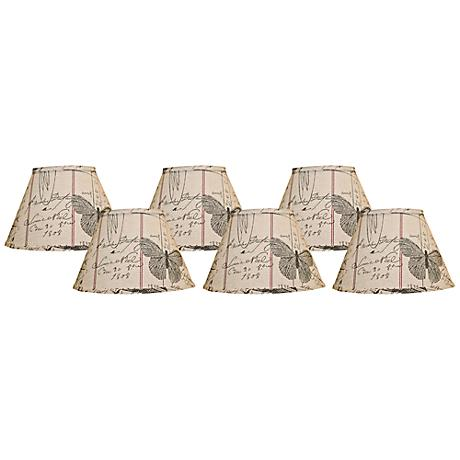 set of 6 antique ledger lamp shades clip on 2n487 www. Black Bedroom Furniture Sets. Home Design Ideas