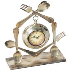 Utensil Metal Wall Clock
