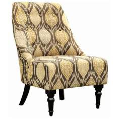 Amelia Alloy Fabric Club Chair