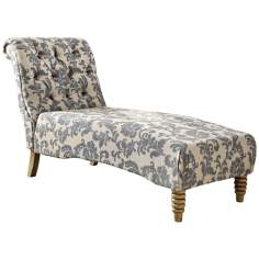 Index Gray Ikat Tufted Chaise