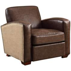 Tucker Natural Jute Antique Brown Armchair