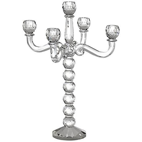 Felicity 5-Arm Crystal Candelabra Taper Candle Holder