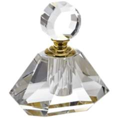 Pini Diamond Shaped Crystal and Gold 6ml Perfume Bottle