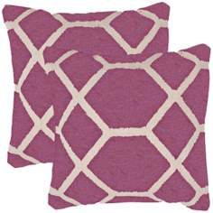 "Cadiz Textural Amethyst and Cream 18"" Throw Pillow"