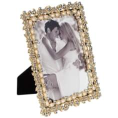 "Angelique Gold and Pearl 5""x7"" Photo Frame"