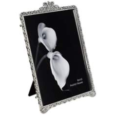 "Vivienne Jeweled Chrome 8""x10"" Photo Frame"