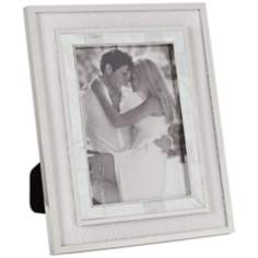 "Madeline Chrome and Mother of Pearl 5""x7"" Photo Frame"