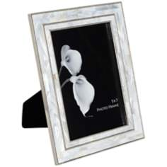 "Cassie Chrome and Mother of Pearl 5""x7"" Photo Frame"