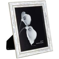 "Cassie Chrome and Mother of Pearl 8""x10"" Photo Frame"