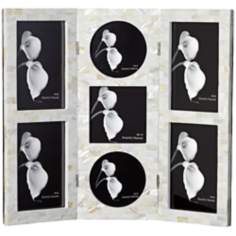 Triptych-Style Mother of Pearl Photo Frame