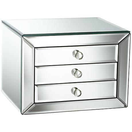 mirrored 3 drawer jewelry box 2p036