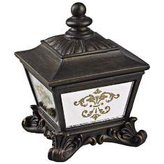 Mirrored Damask Bronze Keepsake Box