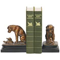 Sterling Turtle and Labrador Retriever Bookends