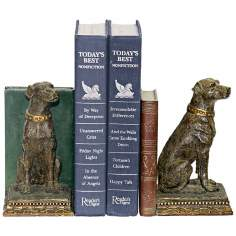 Sterling Chocolate Lab Bookends