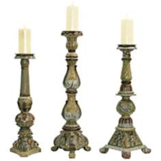 Set of 3 Imperial Candlesticks