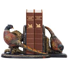 Sterling Autumn Pheasants Bookends