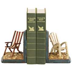 Sterling Beach Chair Bookends